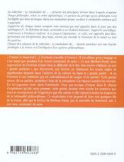 Merleau-Ponty - 4ème de couverture - Format classique