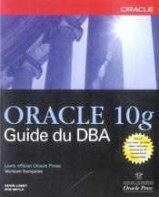 Oracle 10g guide du dba - Intérieur - Format classique