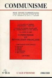 C20/21 Communisme 88/89 - Couverture - Format classique