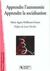 Apprendre L'Autonomie -Apprendre La Socialisation 4e Edition - Intérieur - Format classique