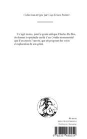 Goethe - 4ème de couverture - Format classique