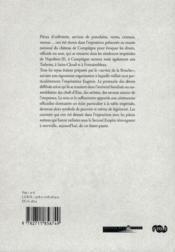 À la table d'Eugénie ; le service de la Bouche dans les palais impériaux - 4ème de couverture - Format classique