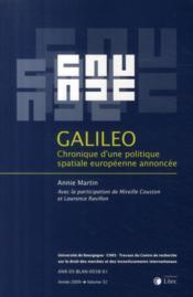 Galileo ; chronique d'une politique spatiale européenne annoncée ; édition 2009 ; t.32 - Couverture - Format classique