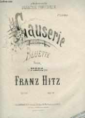 Causerie - Bluette Pour Piano. - Couverture - Format classique