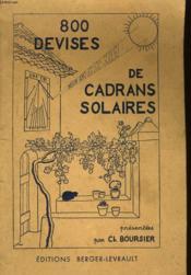800 Devises De Cadrans Solaires - Couverture - Format classique