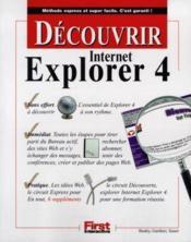 Decouvrir Internet Explorer 4 - Couverture - Format classique