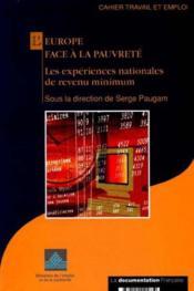 L'europe face a la pauvrete. les experiences nationales de revenu minimum - Couverture - Format classique