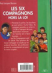 Les six compagnons - t21 - les six compagnons 21 - les six compagnons hors la loi - 4ème de couverture - Format classique