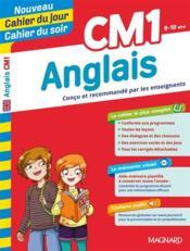 CAHIERS DU JOUR/ SOIR ; anglais ; CM1 - Couverture - Format classique