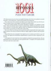 1001 Reponses Pour Tout Savoir - 4ème de couverture - Format classique