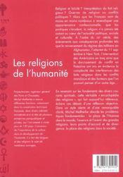 Les Religions De L'Humanite - 4ème de couverture - Format classique