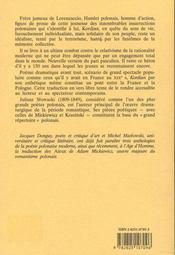 Kordian - 4ème de couverture - Format classique