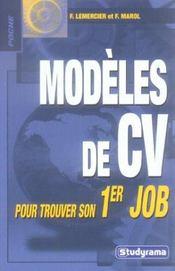 Modèles de cv pour trouver son 1er job - Intérieur - Format classique