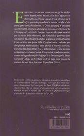 L interdite - davia, une sultane corse au maroc - 4ème de couverture - Format classique