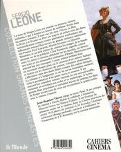 Sergio Leone - 4ème de couverture - Format classique