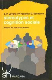 Stéréotypes et cognition sociale - Intérieur - Format classique