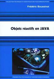 Objet reactif en java - Intérieur - Format classique