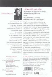L'identité virtuelle ; la prise en charge des familles sous mandat judiciaire - 4ème de couverture - Format classique