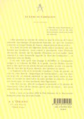 Livre du compagnon - 4ème de couverture - Format classique
