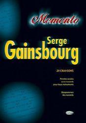Serge Gainsbourg ; 20 chansons - Couverture - Format classique