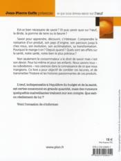 Coffe présente... Savoir sur l'Œuf - 4ème de couverture - Format classique