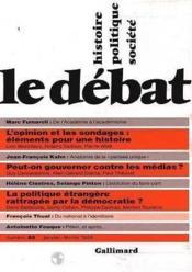 Revue Le Débat N.88 - Couverture - Format classique