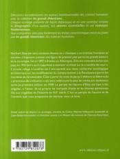 Norbert Elais ; vie, oeuvres, concepts - 4ème de couverture - Format classique