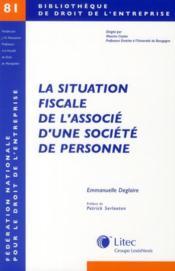La situation fiscale de l'associé d'une société de personne - Couverture - Format classique