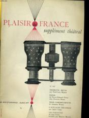 Plaisir De France Supplement Theatral N°333 - Couverture - Format classique