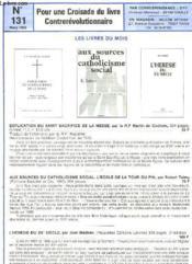 Pour Une Croisade Du Livre Contrerevolutionnaire - N°131 - Couverture - Format classique
