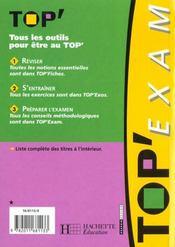 Top'Exam T.48 - 4ème de couverture - Format classique