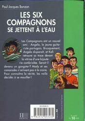 Les six compagnons - t15 - les six compagnons 15 - les six compagnons se jettent a l'eau - 4ème de couverture - Format classique