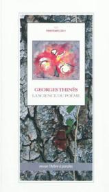 Arbre a paroles (l'), n 151 georges thines : la science du poeme - Couverture - Format classique