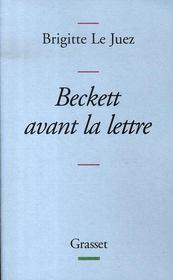 Beckett avant la lettre - Intérieur - Format classique