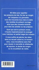 Cuisiner Les Poissons De Mer - 4ème de couverture - Format classique