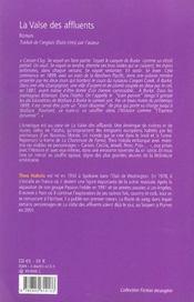 La Valse Des Affluents - 4ème de couverture - Format classique