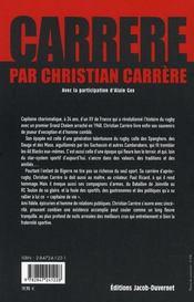 Carrère par christian carrère - 4ème de couverture - Format classique