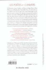 Les poetes et l'univers - 4ème de couverture - Format classique