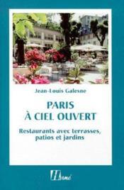 Paris à ciel a ouvert ; restaurants avec terrasses, patios et jardins - Couverture - Format classique