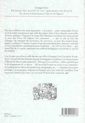 Histoire Des Routes Et Des Transports En Europe. Des Chemins De Saint -Jacques A L'Age D'Or Des Dili - 4ème de couverture - Format classique