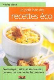 Le petit livre des recettes eco - Intérieur - Format classique