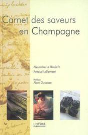 Carnet De Saveur En Champagne - Couverture - Format classique