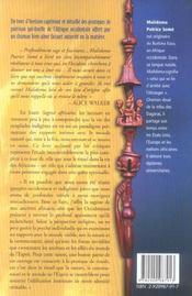 Sagesse africaine - trouver un but (édition 2005) - 4ème de couverture - Format classique