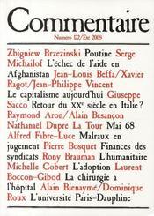 Revue Commentaire N.122 - Intérieur - Format classique