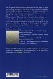 Olympiades de mathématiques ; réflexes et stratégies - 4ème de couverture - Format classique