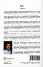 Inca ; le rêve volé - 4ème de couverture - Format classique
