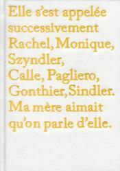 Rachel, Monique... - Couverture - Format classique