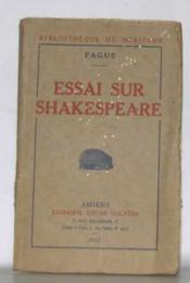 Essai sur shakespeare - Couverture - Format classique