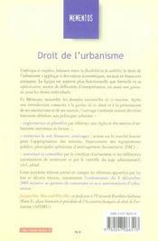 Droit De L'Urbanisme (7e Edition) - 4ème de couverture - Format classique