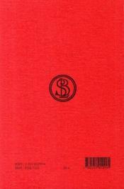 Bucoliques - 4ème de couverture - Format classique